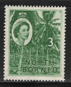 North Borneo Scott 263 MH* QE2 MH*  stamp expect similar centering