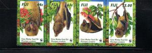 Fiji - Monkey-Faced Bat - World Wildlife Fund - 4 Stamp Sheet 6G-002