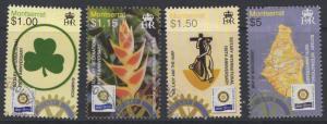 MONTSERRAT SG1285/8 2005 CENTENARY OF ROTARY INTERNATIONAL FINE USED