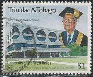 Trinidad & Tobago 523 (used) $1 University, Sir Allen Lewis (1990)