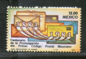 Mexico 1984 Postal Code Centenary Envelopes 1v MNH # 4257