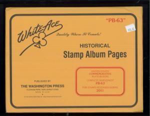 2011 White Ace U.S Commemorative Plate Block Stamp Album Supplements PB-63