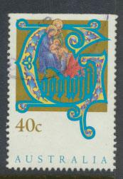 Australia SG 1432  Used  x booklet Top margin imperf - Christmas