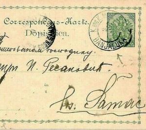 Yugoslavia BOSNIA *Banjaluka* Postal Stationery Postcard {samwells-covers}CU78