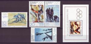 J20530 Jlstamps 1980 germany ddr set + s/s mnh #2063-5,b189 olympics