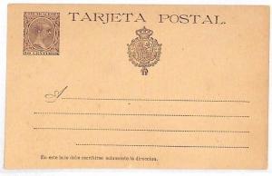 SPAIN Postal Stationery Card Unused 10 Centimos 1890s{samwells-covers}VV178