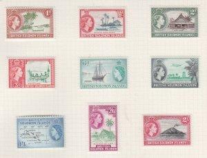 SOLOMON ISLANDS, 1963 QE new watermark set of 9, lhm.