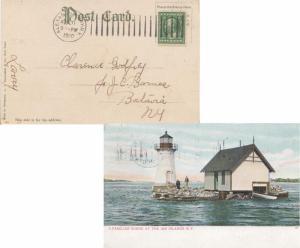 United States New York Alexandria Bay, N.Y. 1910 Doremus Machine Type E  PPC ...