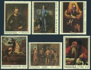 Panama 479-479E,MNH.Mi 997-1002. Works of famous artists,1967.Rembrandt,Durer,