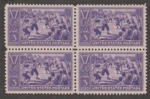 U.S. Scott #855 Baseball Stamp - Mint NH Block of 4