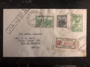 1931 Buenos Aires ARgentina First Flight Cover FFC To Rio De Janeiro Brazil
