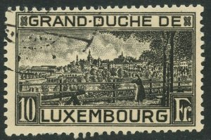 LUXEMBOURG Sc#152 1923 View in Black Perf. 11.5 Complete Used