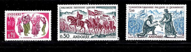 French Administration ANDORRA  Scott #155-7 MLH