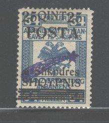 ALBANIA 1919  #101, OVERPRINT,  MH