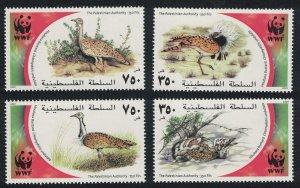 Palestine Birds WWF Houbara Bustard 4v 2001 MNH SC#150a-d SG#PA204-PA207