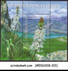 UZBEKISTAN - 2017 FLOWERS OF UZBEKISTAN - MIN. SHEET MNH
