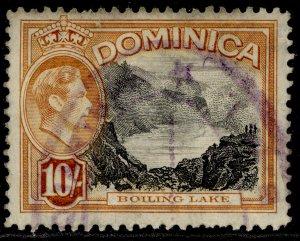 DOMINICA GVI SG108a, 10s black & orange-brown, USED.