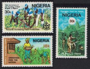 Nigeria 'Operation Feed the Nation' Campaign 3v SG#381-383
