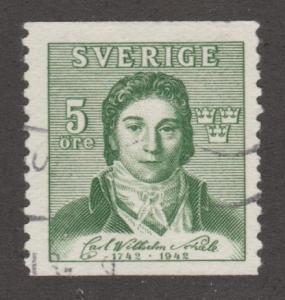 Sweden Stamp ,used, Scott# 335, green, man   #M431