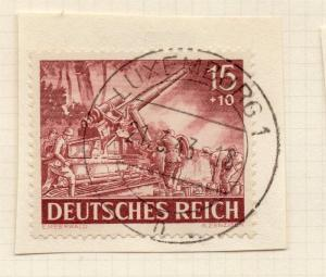 1944-45 GERMANY used in LUXEMBOURG Fine Used 15p. Postmark Piece 241807
