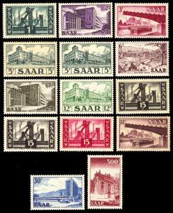 Saar 1952-55 Scott #232-245 Mint Never Hinged