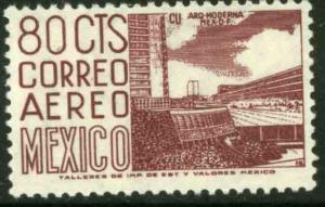 MEXICO C265b, 80cents 1950 Definitive 2nd Printing wmk 300. MINT, NH. F-VF.
