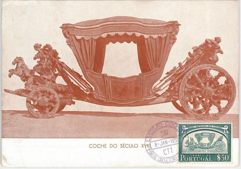 57463 - PORTUGAL - POSTAL HISTORY: MAXIMUM CARD 1952 -  ROYALTY Royal Carriage