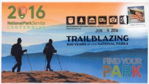 16-408, 2016, Trailblazing, 100 Years, NPS, Pictorial, Smithsonian Postal