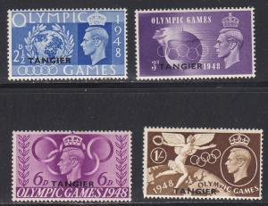 Great Britian - Tangier # 527-530, Olympic Games, NH, 1/2 Cat.