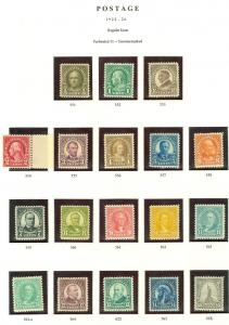 USA : 1922-25. Beautiful Fresh set with all VF-XF MNH except for 6, 8, 10 & 35¢