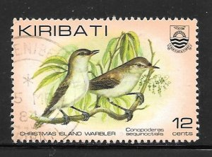 Kiribati 390: 12c Kiritimati Reed Warbler (Acrocephalus aequinoctialis), used...