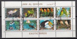 Umm Al Qiwain, SW1479-1486, CTO-NH, 1972, Exotic Birds