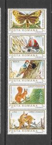 BIRDS - ROMANIA #3154 (row 2)  MNH