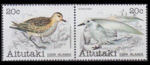 1981 Aitutaki 388-389Paar Birds 4,80 €
