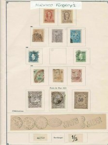 mexico forgerys stamps page ref 17130