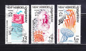 New Hebrides, British 205-207 Set U TCommunications (B)