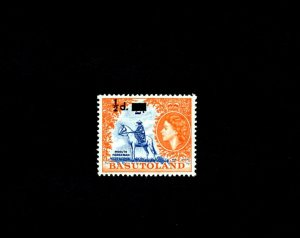BASUTOLAND - 1959 - QE II - MOSOTHO HORSEMAN - # 57 SURCHARGED - # 3 MNH SINGLE!
