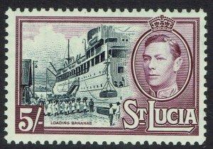 ST LUCIA 1938 KGVI SHIP 5- MNH **