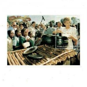Sierra Leone MNH S/S 2095 Princess Diana Feeding Children