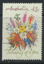 SG 1231  SC# 1164b  Used  left margin imperf Wildflowers