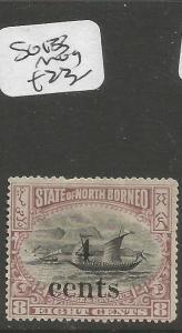 North Borneo SG 133 MOG (2cwt)