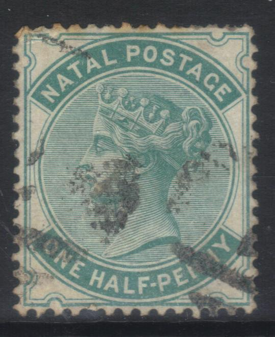 NATAL 1880 CROWN CC SG96 USED CAT £35