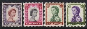 Sarawak #207-10, mint part set, Queen Elizabeth II