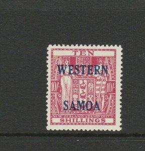 Samoa 1955 Opts on Arms 10/- MM SG 233