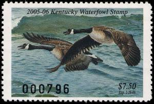 KENTUCKY #21 2005  STATE DUCK STAMP CANADA GEESE