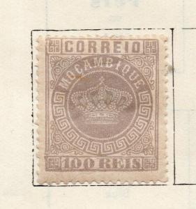 Mozambique 1877 Early Issue Fine Mint Hinged 100r. 301211