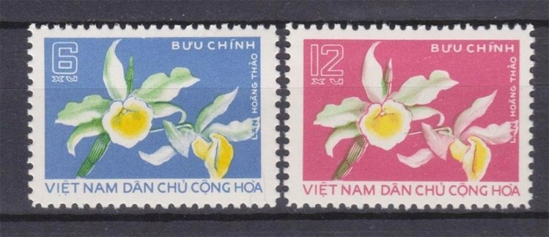 Vietnam 1976 MNH Stamps Scott 806-807 Flowers Orchid