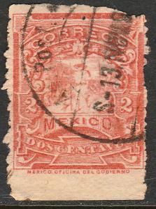 MEXICO 243 2cents MULITA WMK CORREOSEUM USED (148)