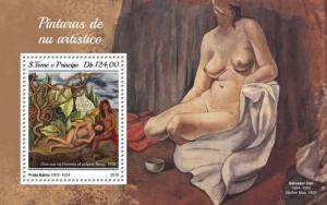 SAO TOME - 2018 - Nude Paintings - Perf Souv HV Sheet - MNH