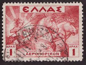 GREECE Scott C22 used Airmail stamp